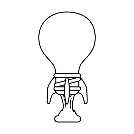 bulb light energy icon vector illustration graphic design Banco de Imagens - 84528354