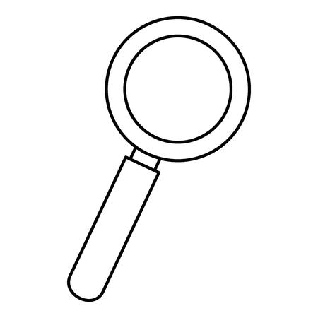Magnifying glass lupe icon vector illustration graphic design Illusztráció