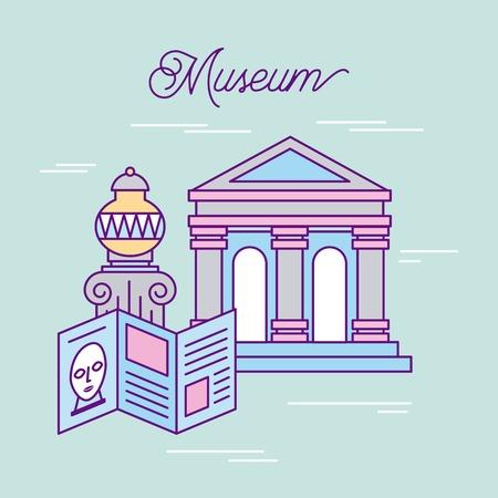 geschiedenis museum reclame pictogram vector illustratie ontwerp afbeelding