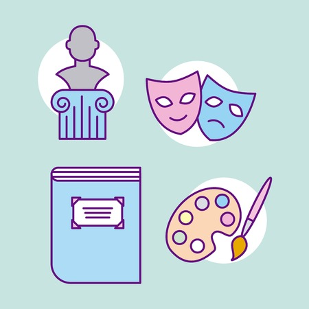 history museum cartoon icon vector illustration design graphic