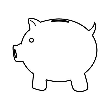 돼지 저금통 저축 아이콘 벡터 일러스트 그래픽 디자인 일러스트
