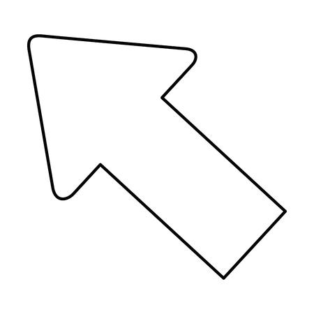 아이콘 벡터 일러스트 레이 션 그래픽 디자인을 가리키는 화살표