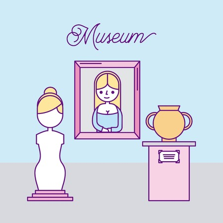 history museum advertising icon vector illustration design graphic Ilustração