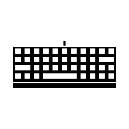 Keyboard hardware computer icon vector illustration graphic design Illustration