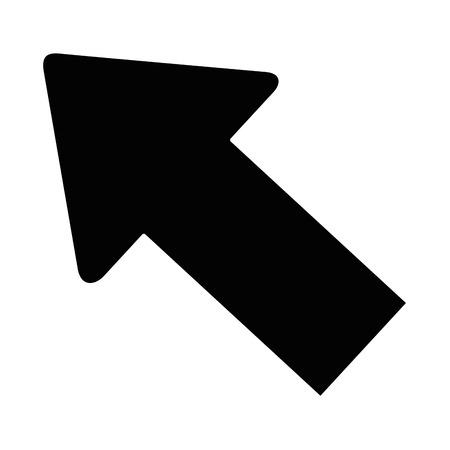 白背景ベクトル イラスト上の矢印アイコン