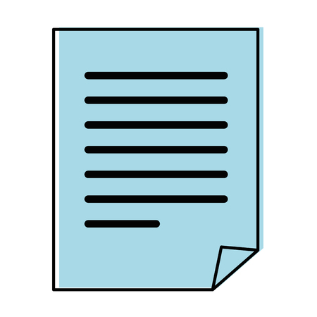 document pages icon over white background vector illustration Banco de Imagens - 84528701