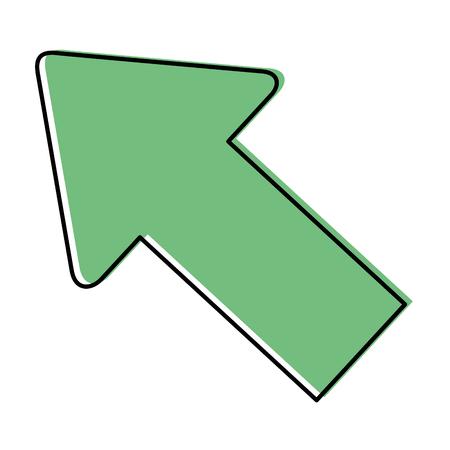 흰색 배경 벡터 일러스트 레이 션 위에 화살표 아이콘