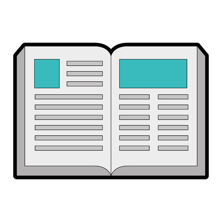 academic book icon over white background vector illustration