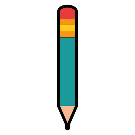 pencil utensil icon over white background vector illustration Illusztráció
