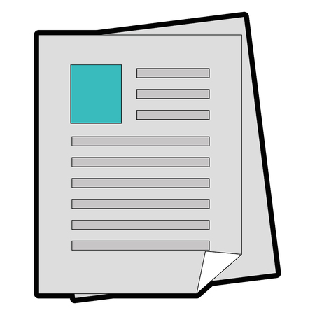 Document pagina's pictogram over witte achtergrond vector illustratie Stockfoto - 84528741