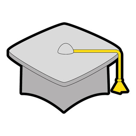 白い背景のベクトル図を卒業キャップ アイコン  イラスト・ベクター素材