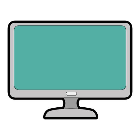 白い背景のベクトル図をコンピューター アイコン