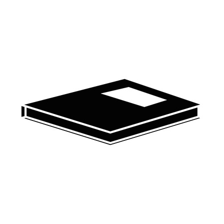icon over white book background vector illustration