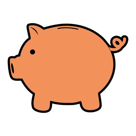貯金箱のお金節約アイコン ベクトル イラスト グラフィック デザイン