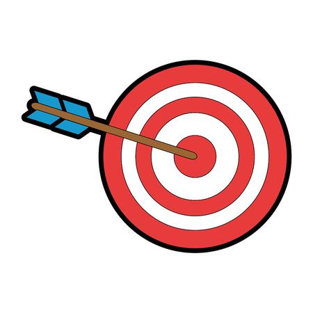 Van het het symboolpictogram van het doeldartboard vector de illustratie grafisch ontwerp Stock Illustratie