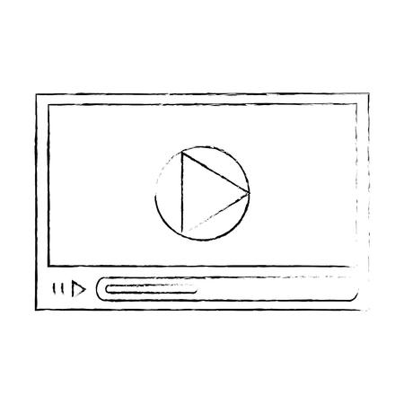 Media video player icon vector illustration graphic design Illustration