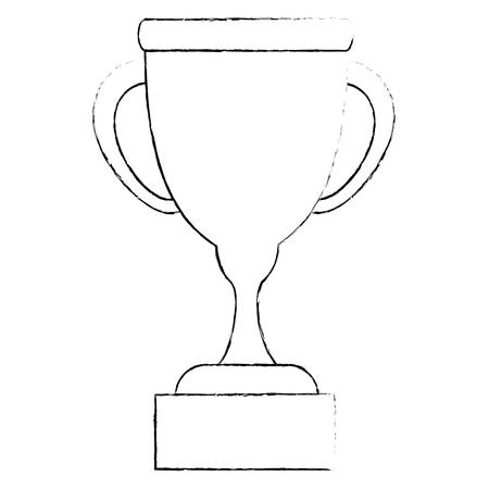 Trophy cup symbol icon vector illustration graphic design Ilustração