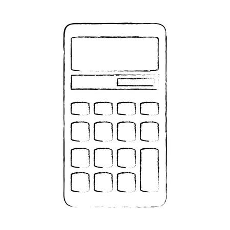 Van het het apparatenpictogram van de calculator math vector de illustratie grafisch ontwerp Stock Illustratie