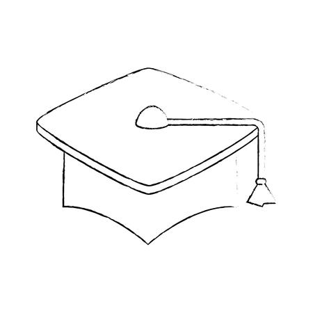 Graduation student hat icon vector illustration graphic design