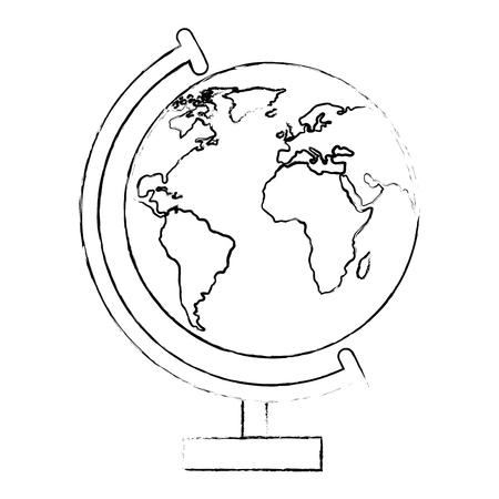 World earth globe icon vector illustration graphic design