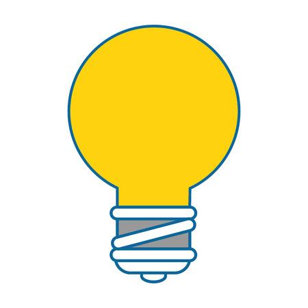 bulb light energy icon vector illustration graphic design Ilustração