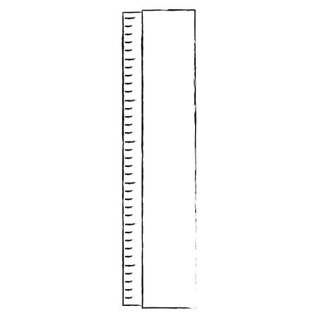 ルーラー測定ツールアイコンベクトルイラストグラフィックデザイン