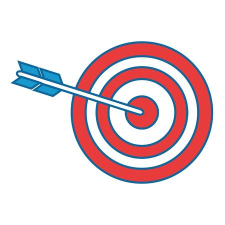 Boog en pijl icoon over witte achtergrond vector illustratie Stock Illustratie