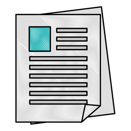 document pages icon over white background vector illustration