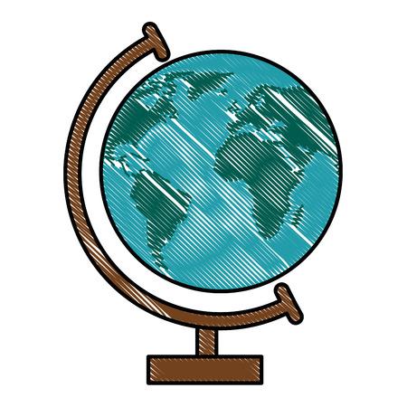 白い背景のベクトル図を地理ツール アイコン