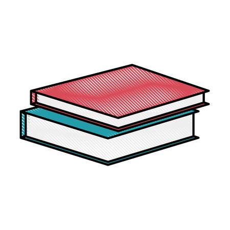 academic books icon over white background vector illustration