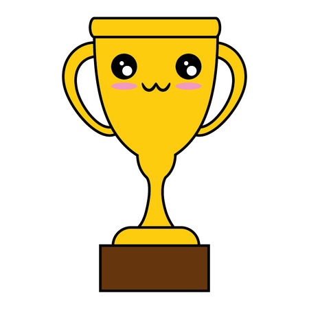 trophy icon over white background vector illustration