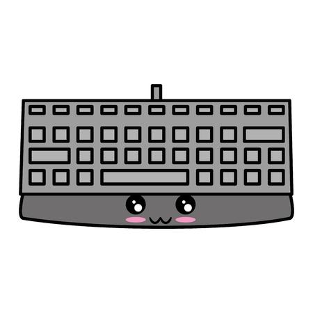白背景ベクトル イラスト上のキーボード デバイス アイコン