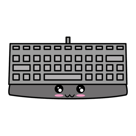 keyboard device icon over white background vector illustration