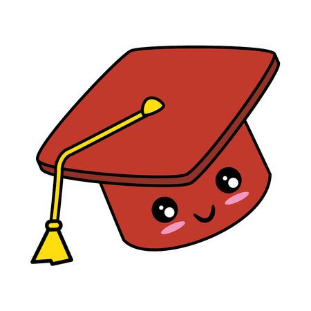 graduation cap icon over white background vector illustration