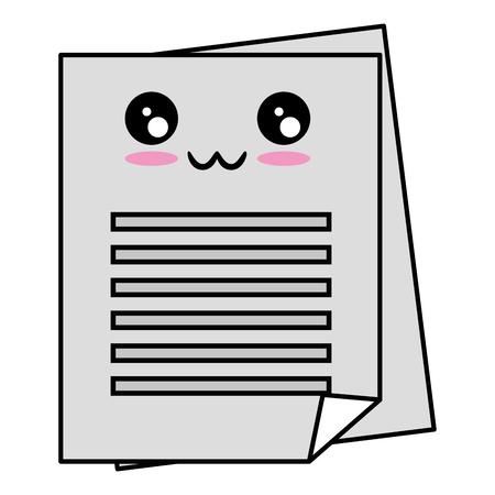 Dokument Seiten Symbol auf weißem Hintergrund Vektor-Illustration Standard-Bild - 84552642