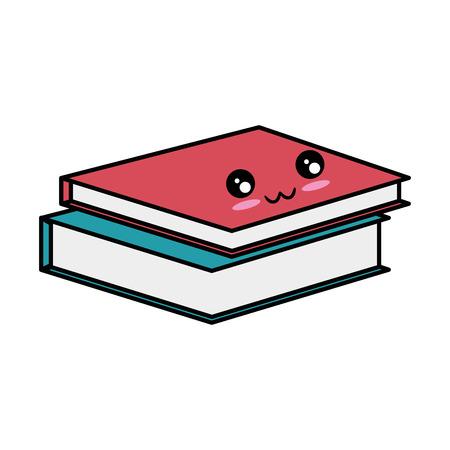 icona di libri accademico su sfondo bianco illustrazione vettoriale