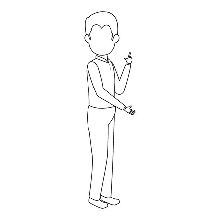 businessman standing icon over white background vector illustration Illusztráció