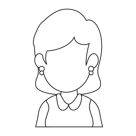 avatar zakenvrouw pictogram op witte achtergrond vector illustratie Stock Illustratie