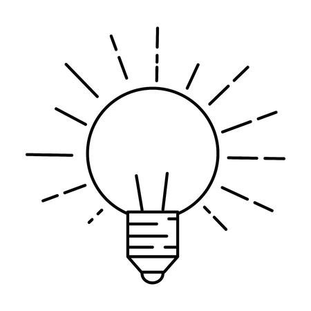 light bulb icon over white background vector illustration Иллюстрация
