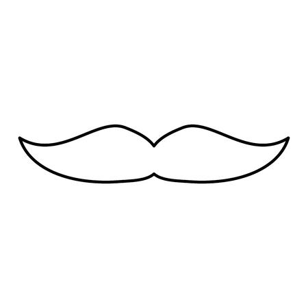 白 backgorund のベクトル図に口ひげアイコン  イラスト・ベクター素材