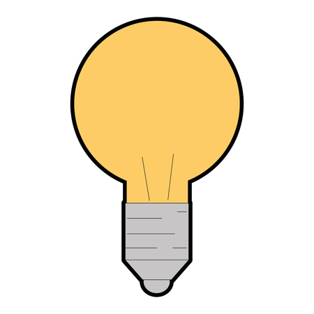 light bulb icon over white background vector illustration Stock fotó - 84553070
