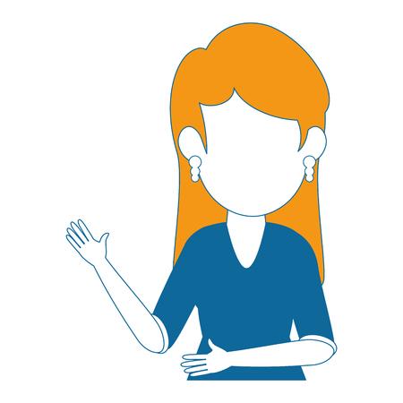 avatar businesswoman icon over white background colorful design vector illustration Ilustração
