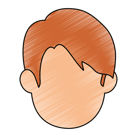 man face icon over white background vector illustration