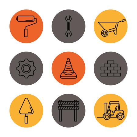illustrazione vettoriale di strumenti in costruzione attrezzature hardwork Vettoriali