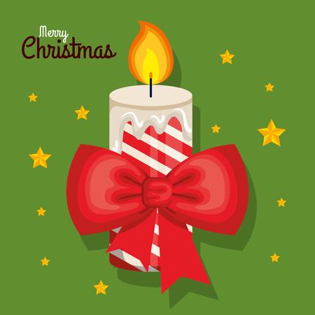 Velas de navidad con ramas de abeto y acebo ilustración vectorial Foto de archivo - 84553906