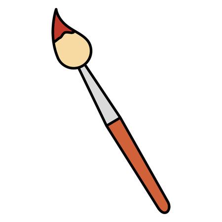 verf penseel school aanbod vector illustratie ontwerp