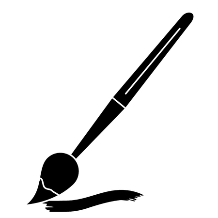 verf borstel school aanbod vector illustratie ontwerp