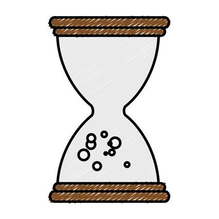 모래 시계 시간 절연 아이콘 벡터 일러스트 디자인