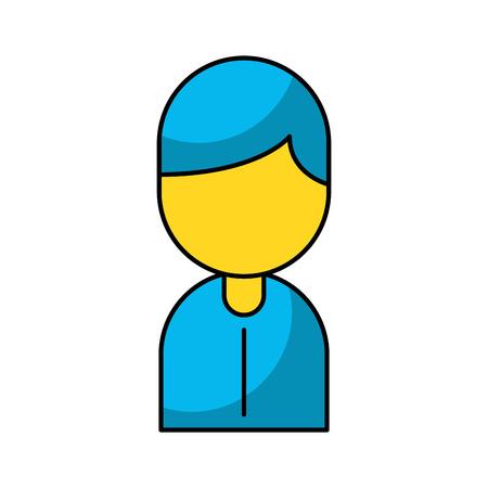 Zakenman avatar geïsoleerd pictogram Stock Illustratie