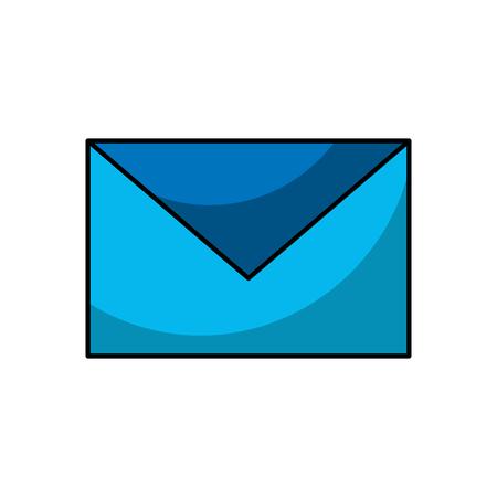 절연 파란색 봉투 아이콘